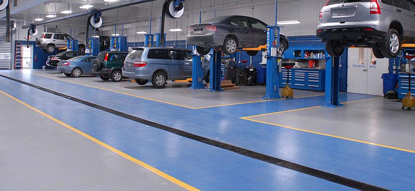 Industrial flooring for Mechanic shop flooring